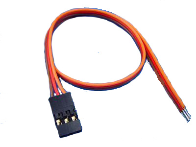 Servo cable with male connector 20 cm - 22AWG
