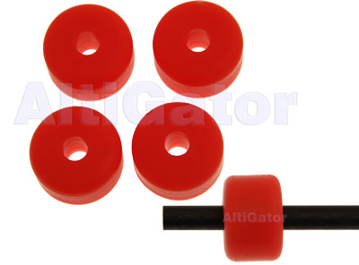 Landing skid pads - fluo orange - diam: 6.5mm