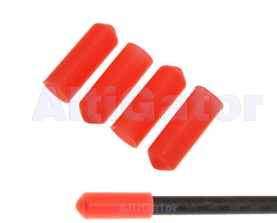 Landing skid caps - fluorescent orange