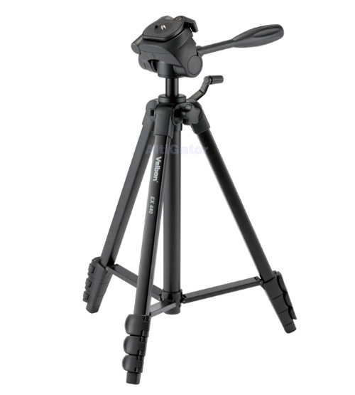 Compact tripod with built-in photo/movie head and bag - Velbon EX-440