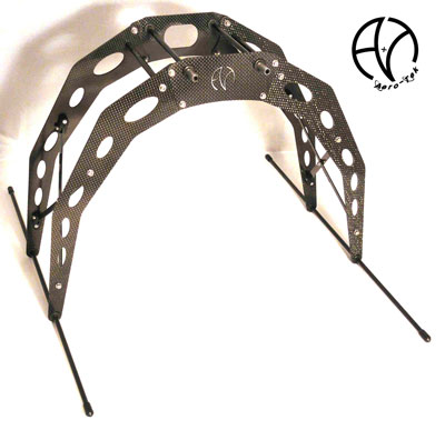 Extended landing gear kit in carbon for Aero-Tek frames