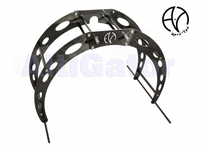 Extended landing gear kit SPI in carbon for Aero-Tek frames