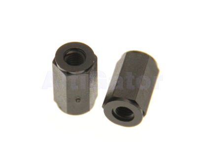 Bolt female/female M3x10 black (plastic)