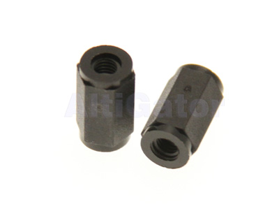 Bolt female/female M3x11 black (plastic)