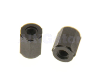 Bolt female/female M3x8 black (plastic)