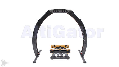 SkyJib-8 Lite landing gear and gear rail assembly