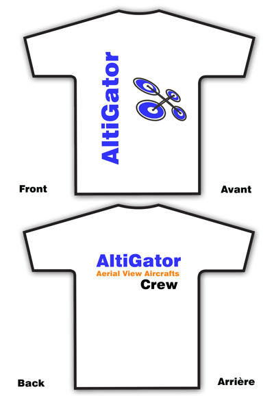AltiGator Crew T-Shirt white - Size: Medium