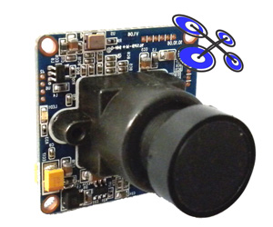 Mini FPV camera 560TVL without housing