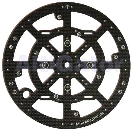 Carbon CenterPlate 2mm - Okto2