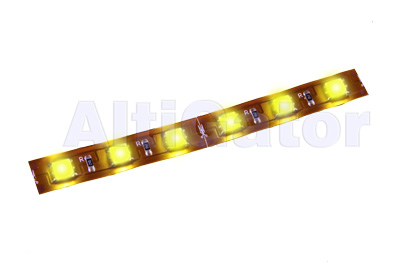 Bandeau LED JAUNE Hi-Power (flexible et étanche)