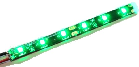 LED stripe GREEN (flexible, water resistant)