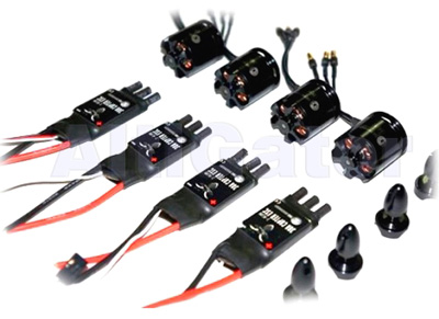 Set of 4 motors: TBS 1000KV & 4 ESC 30A