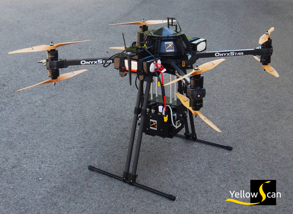 Remote sensing LIDAR drone embedded: the Light Detection And Ranging technology airborne