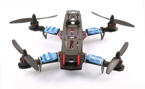 XBird 250 mini quad with motors, propellers, ESCs & flight electronics