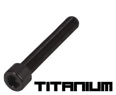 10 Black titanium screw M3x30