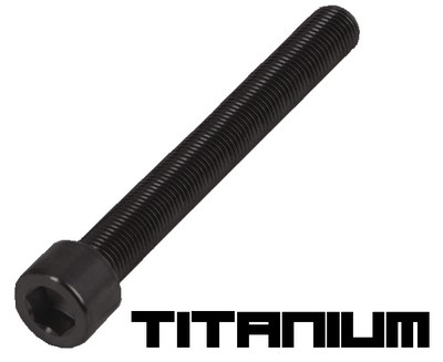 10 Black titanium screw M3x45