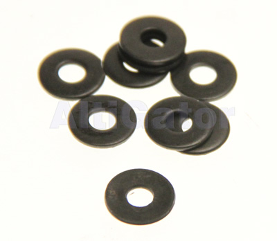 Black - INOX flat large washer M3