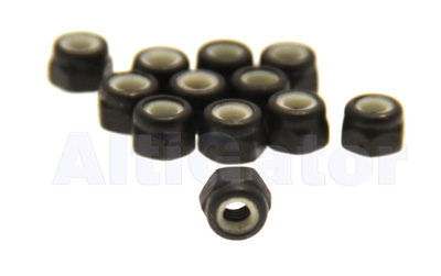 Black - INOX stop nuts M3