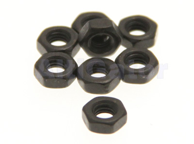 Black - INOX nuts M3