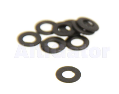 Black - INOX flat washer M4