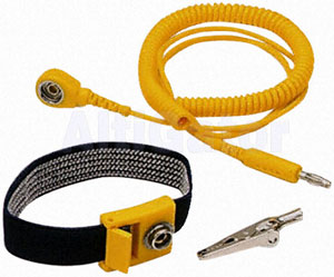 Antistatic wristband with ESD grounding cord