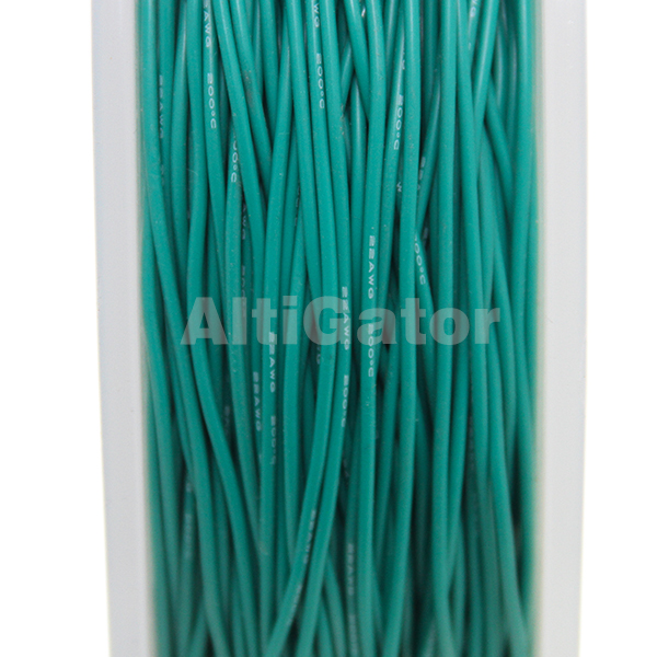 Silicone cable - 22AWG / 0.33mm2 Green