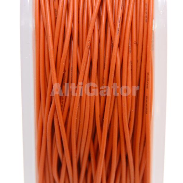 Silicone cable - 22AWG / 0.33mm2 Orange