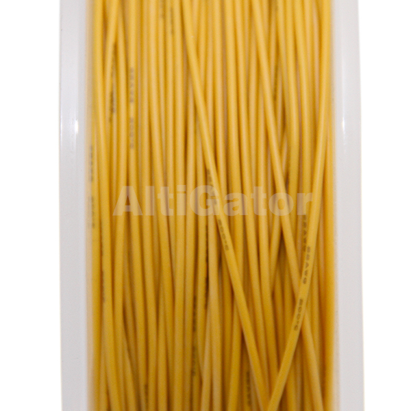 Silicone cable - 22AWG / 0.33mm2 Yellow