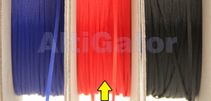 Expandable braid sleeve for cables - Red - 3mm