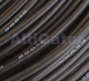 Silicone cable - 17AWG / 1mm2 Black