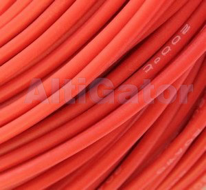 Silicone cable - 10AWG / 5.2mm2 Red