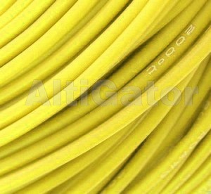 Silicone cable - 16AWG / 1mm2 Yellow